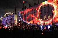 Festival of lights, place Antonin Poncet, Lyon, France.