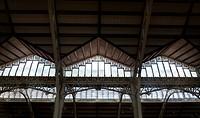 Architecture detail, Mercado Central, Valencia, Spain