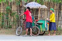 Sale of Street Food in Puerto Princesa, Palawan, Philippines.
