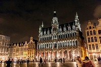 The Maison du Roi (King´s House) on the famous Grande Place in the City Centre of Brussels, Belgium.