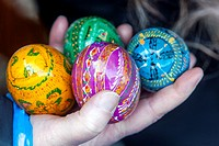 Traditional easter eggs, Prague Czech Republic, Europe.