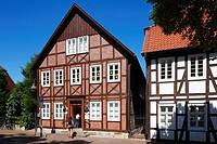 Germany, Salzkotten, Buerener Land, East Westphalia, Westphalian Lowland, Westphalia, North Rhine-Westphalia, NRW, residential house, half-timbered ho...