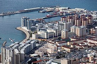 Aerial view of gibraltar.