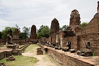 Ayutthaya, Wat Mahathat ruins. Thailand, Asia.