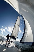 Finland. Aland Islands. Baltic Sea. Cruise on a yacht.
