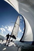 Finland. Aland Islands. Baltic Sea. Cruise on a yacht.