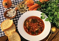 The bean soup Fasolada, the Greek national dish.
