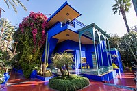 The Majorelle Garden is a twelve-acre botanical garden and artist´s landscape garden in Marrakech, Morocco.
