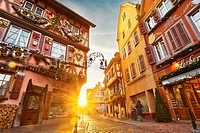 Christmastime in Colmar. Haut- Rhin. Alsace. France.