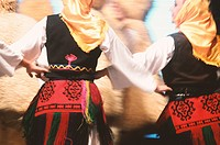 Traditional women dancers in Serbia