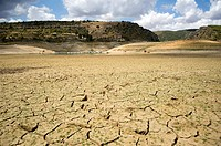 Drought in Entrepeñas Reservoir, Guadalajara province, Spain.