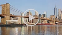 Brooklyn Bridge NYC Barge