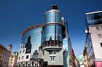 Haas House at the Stock-im-Eisen-Platz in Vienna, Austria
