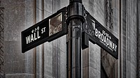 NYC Wall Street And Broadway Sign - New York City´s Broadway Canyon of Heroes and Wall Street Sign.