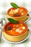 Asturian fabada. Typical meal from Spain.