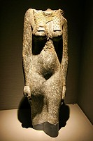 Egypt, Alexandria, Bibliotheca Alexandrina, Archeological Museum, headless statue of Isis, granit.