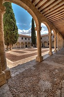 trilingue courtyard in university of alcala de henares. Spain.