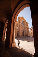Framed view to the Chiesa Madre-Mother Church, Marsala, Sicily, Italy, Europe.
