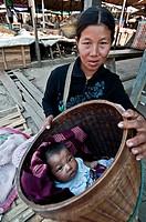 Loikaw market, Myanmar