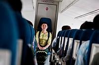 Hostess, Heho to Kyaing Thong flight, Myanmar