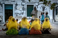 Traditional singing and dancing in the old fort. Ibo Island. Mozambique.