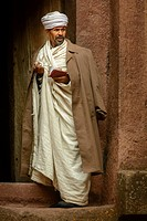 Priest at Church of St. George (Amharic: Bete Giyorgis or Biet Giyorgis). It is among the best known and last built of the eleven Rock-Hewn Churches i...