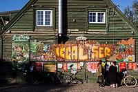Graffiti in Christiania freetown, Copenhagen. Denmark.