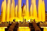 Magic Fountain of Montjuïc, Fuente mágica de Montjuic is a fountain located at the head of Avenida Maria Cristina in the Montjuïc neighborhood of Barc...