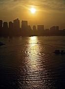 Boston at dusk.