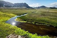Landmannalaugar area, Highland Iceland.