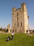 helmsley Castle,market town of Helmsley,Yorkshire,UK. taken 12/04/2015.