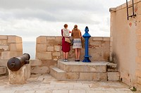 -Tourists in Santa Barbara Castle- Alicante Spain.