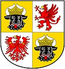 Coat of arms of the German federal state Mecklenburg-Western Pomerania - Caution: For the editorial use only. Not for advertising or other commercial ...