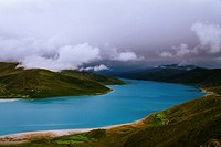 Beautiful view of Yamdrok Lake, Tibet.