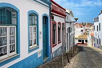Europe, Portugal, Algarve, Faro district, Lagos, historic part,  Rua Bombeiros Voluntários de Lagos