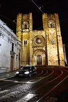 The Patriarchal Cathedral of St. Mary Major -Se Cathedral- in Lisbon, Portugal. Europe.