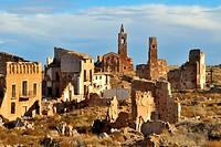 Belchite (Saragossa), Aragon. Spain.