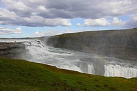 Gullfoss Gorge, The Golden Circle, Soutwest Iceland.
