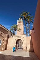 Koutoubia mosque in Marrakech, Morocco.
