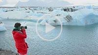 Iceland Jokulsarlon glaciers and icebergs on lake lagoon on edge of Vatnajokull National Park in Southeast Iceland