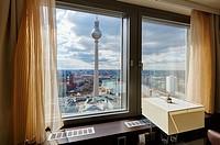 Television tower, Alexanderplatz, Berlin, Germany.
