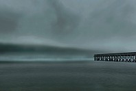 Landscape, waterscape, pier