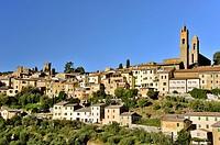 Sight of Montalcino, Tuscan town, Tuscany, Italy.