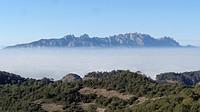 Montserrat Mountains seen from Serra de l´Obac. Catalonia, Spain.