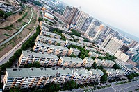 Taiyuan, Shanxi province, China - The view of Taiyuan city in the daytime.