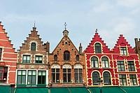 Markt, the Market Square, Bruges, Belgium, Europe