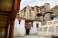 17th century Leh palace entrance (Ladakh, India).