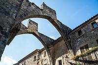 Village asside the monastery of Vallbona de les Monges Catalonia