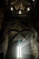 Ribbed vault and dome of the church in Vallbona de les Monges cistercian monastery