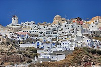 View of Oia, Santorini, Cyclades Islands, Greece